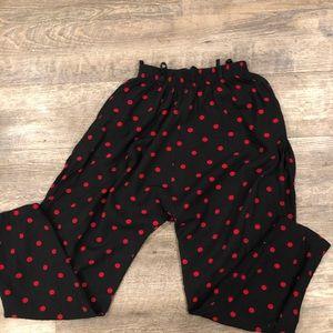 VTG Crop Red Polka Dot Pants